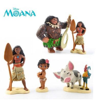 6pcs figuras de acción de moana de disney muñeca figuritas p