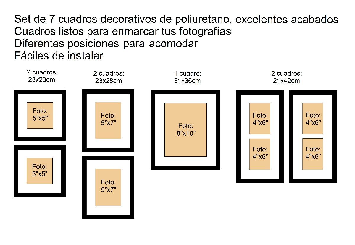 7 Marcos Para Fotografías , Pared Y Decoración - $ 998.00 en Mercado ...