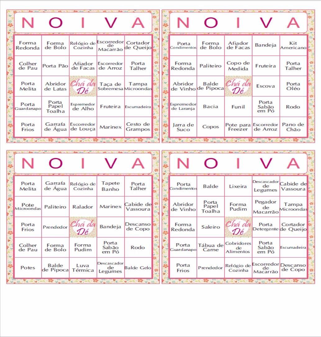 70 Cartelas Bingo Ch De Panela Personalizada Envio Email R 25 00
