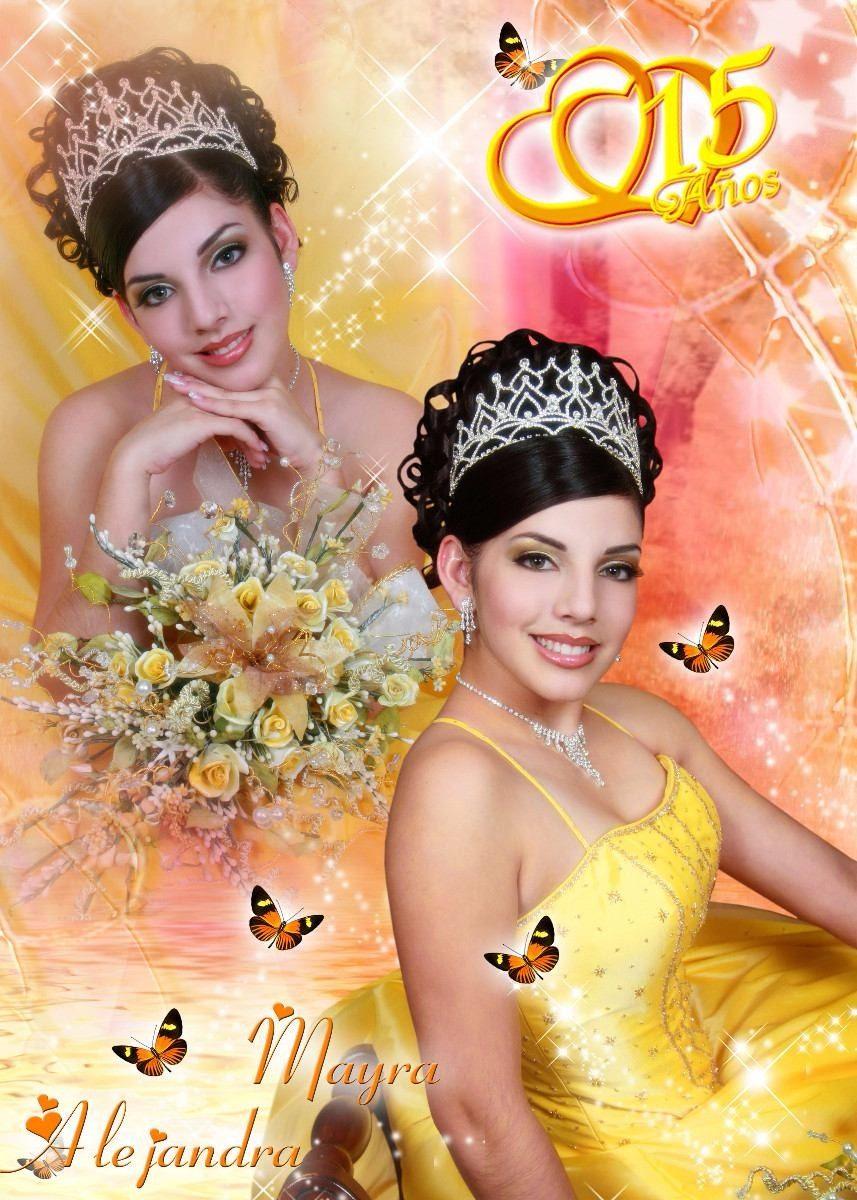 700 Plantillas Photoshop En Capas Para 15 Años, Bodas Y Mas - $ 100 ...