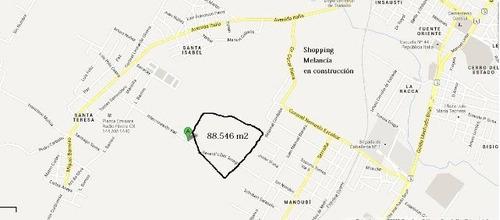 8 hectáreas sin lotear en zona nuevo shopping melancía
