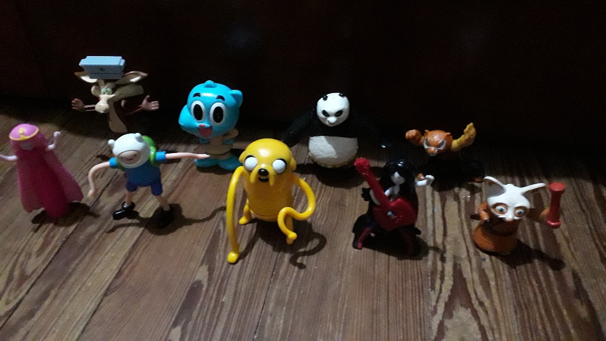 9 Figuras Kung Fu Panda Hora De Aventura Gumball Mc Donalds - $ 300,00