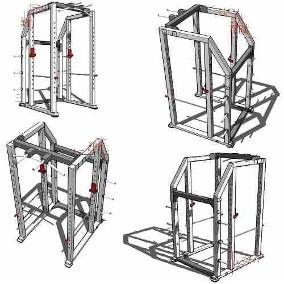 91 planos gym gimnasios maquinas de ejercicios + traductor