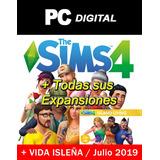 The Sims 4 Pc Español + Expansiones + Vida Isleña / Digital