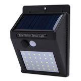Lampara 30 Led Solar Foco Potente + Sensor Fotocelula Luz