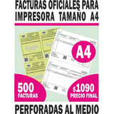 500 Facturas A4 Para Impresora - Imprenta Autorizada Por Dgi