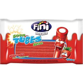 Tubes Regaliz Frutilla Acido Fini X450g