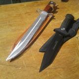 Cuchillo Bayoneta Ak47 + Regalo Cuchillo De Caza Usa Saber