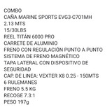 Combo Marine Sports( Reel Y Caña)