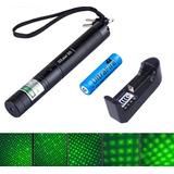 Puntero Laser 303 Militar Verde 10000mw Pila 5000mah Quema