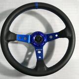 Volante Deportivo Tuning Racing Sparco Azul Negro Vsa1-1