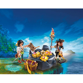 Escondite Del Tesoro Con Piratas - Playmobil
