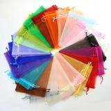 Bolsa Bolsita De Organza 9x12 Cm Varios Colores