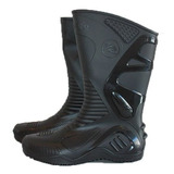 Bota Moto Lluvia Impermeable Motosafe Suela Negra