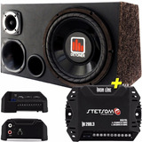 Caja Amplificada Audio Auto + Potencia Stetsom