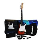 Guitarra Electrica Pack Memphis E01 Strat Sunburst O Negra