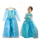 Vestido , Disfraz De Frozen , Talles De 3 A 6 Años.