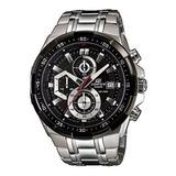 Reloj Casio Edifice Ef 539 - Plata Y Negro - Original