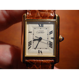 Reloj Cartier Tank Oro 18k Plata 950 Hombre