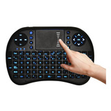 Teclado Mini Inalambrico +luz Smart Tv Control Remoto Qwerty