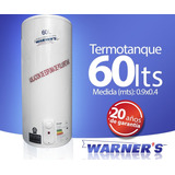 Termotanque Calefon Tanque Cobre 60 Lts Warners Punion
