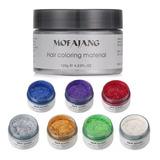 Cera Pomada Tinte Colorear Pelo Lavable Instantanea Mofajang