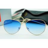 d971418e1a051 Lentes Anteojos Ray-ban Aviador 3025 3026 Azul Acero