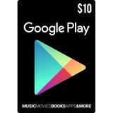Tarjeta Google Play 10 Usd Usa | Mvd Store