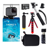 Go Pro Hero 7 Silver Con Muchos Accesorios + Sd Samsung 64gb