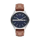 Reloj Armani Exchange Correa Cuero Marron