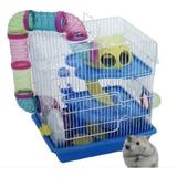 Jaula Para Hamster - 3 Pisos - Accesorios - Importada