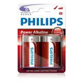 Pila Alcalina D Philips X2