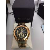 Reloj Casio Masculino Edifice Ef-539 Dorado Stock !!!