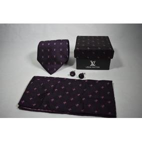 Corbata Louis Vuitton Set Incluye Pañuelo Y Ambos