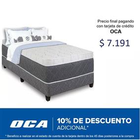 Sommier Resortes Pocket 1 Plaza Y Media Espuma Viscoelastica
