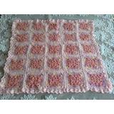58def1e0d Manta De Bebé Tejida A Mano En Crochet Rosa Bebé Modelo 11