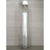 Botella Plástico Pet 1 Litro Tapa Rosca. Envase Transparente