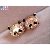 Joyería De Moda Chica Oro Plateado Lindo Panda Animal Crista