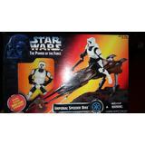 Lote De 3 Speeder Bike Star Wars Con Figura Kenner Hasbro