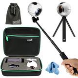 Eeekit Todo En 1 Kit Para Samsung Gear 360 Real 360 Cámara V