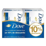 Jabón Dove Blanco X 2 Unidades 135 Gr + 10% Más