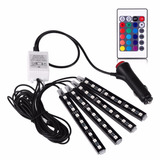 Kit Luces Led Rgb Para Autos Tuning Con Control Remoto 12v