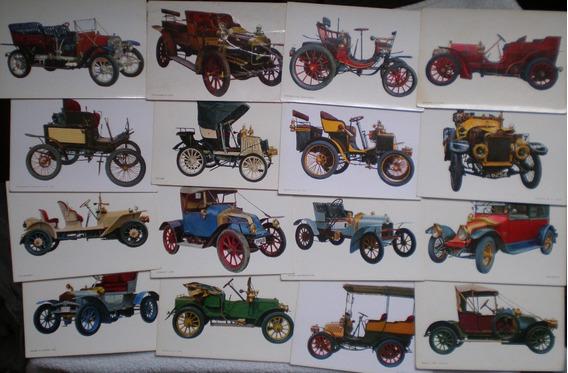 9 Postal Autos Clásicos Antiguos Cachilas 1960 Sin Uso C/u