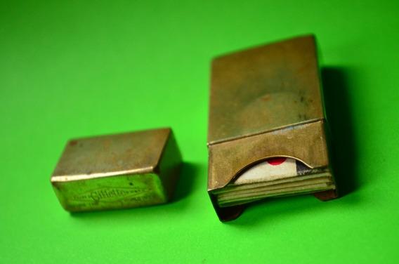 Antiguo - Vintage - Porta Hojas De Afeitar Gillette - Metal2