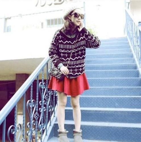 Buzo Sweater Tejido Algodon Negro Blanco Rojo