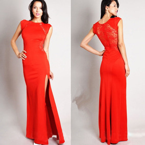 Vestido de fiesta color rojo largo