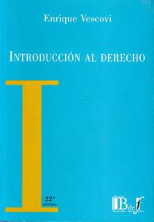 Libro: Introducción Al Derecho - Enrique Vescovi