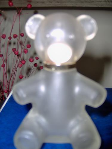 Frascos De Perfume Coleccionables Oso En Vidrio