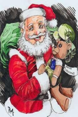 Imagenes De Papa Noel De Navidad.Papa Noel Santa Claus Navidad Lamina 45x30 Cm