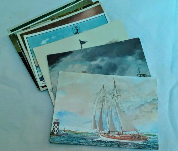 Postales Con Barcos Maritimas Lote X11